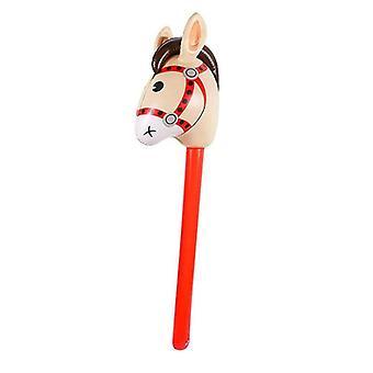 Puhallettavat hevosenpäät, Cowgirl Stick, Pvc-ilmapallo, Ulko-opetus
