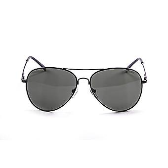 Ocean Sunglasses Banila Aviator, Metal Sunglasses, Frame: Matt Black, Lenses: Smoke, 18110.7