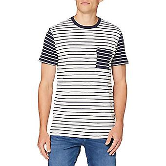 Joules Finchley T-Shirt, Dark Blue White Band, L Man