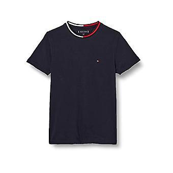 Tommy Hilfiger TH Cool Flag Collar Tee Shirt, Blue, X-Small Man