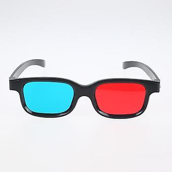 Rot & blau 3d Brille, schwarzer Rahmen für Dimensional Anaglyph TV, Film, Dvd-Spiel