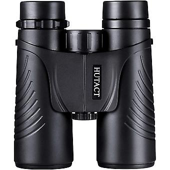 HUTACT 10x42 Binoculars, Wide Field HD Bird Watching Binoculars for Travel Professionals - Clearer Details and Light - Waterproof and Dustproof(Black)