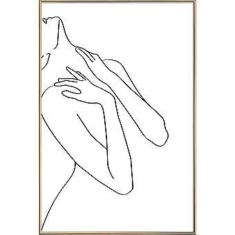 JUNIQE Print - Uroda - Czarno-biały plakat w czerni i bieli