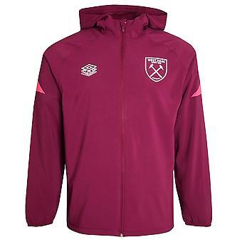 2021-2022 West Ham Shower Jacket (Zifandel)