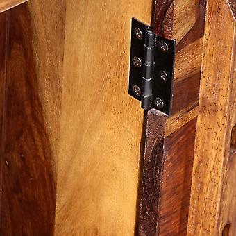 vidaXL bureau met 1 lade en 1 kast massief hout