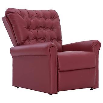 vidaXL fauteuil wijn rood leer kunstleer