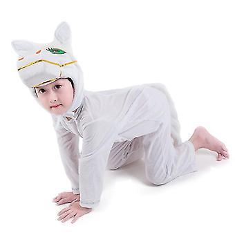 Xs (100cm) weißes Pferd lange Cosplay Anzug Kostüm Bühne Kleidung Urlaub Kleidung cai593