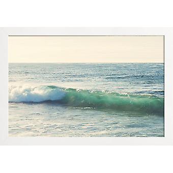 JUNIQE Print - Curl - Oceaner, Have og Søer Plakat i Blå &turkis