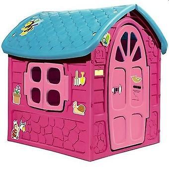 Playhouse Różowy domek z dachem – 120 x 113 x 111 cm