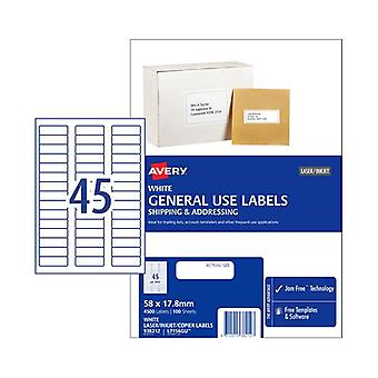 Avery General Label L7516Gu 45Up Box Of 100