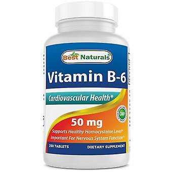 Best Naturals Vitamin B6, 50 mg, 250 Tabs
