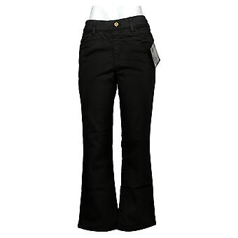 IMAN Global Chic Women's Petite Jeans Pull On Bootcut Black 734928001