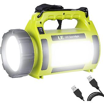 Wokex Rechargeab Camping Lantern, 1000 Lumen CREE D Torch, 5 Modes Outdoor Searchlight with 3600mAh