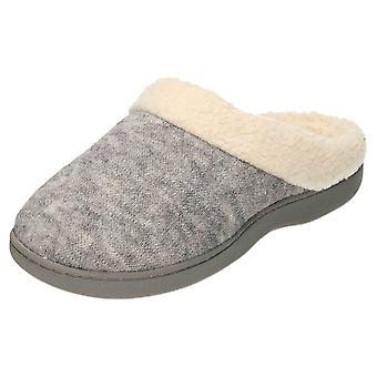 JWF Slippers Mules Memory Foam Clogs Grey