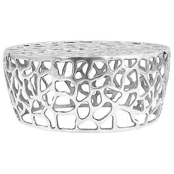 vidaXL soffbord gjuten aluminium 70 x 30 cm silver