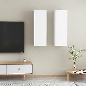 vidaXL TV-kaapit 2 kpl. valkoinen 30,5x30x90 cm lastulevy