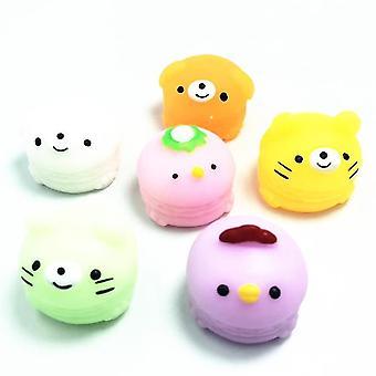 6pcs Cute Pet Doll Squishy Fidget Toys Children Stress Relief Toys