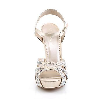 Fabulicious Women's Shoes LUMINA-23 Champagne Satin