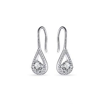 Gisser Jewels - Öronkrok - Solitaire set med Zirkonia Stone - 23mm x 7mm - Gerhodineerd Zilver 925