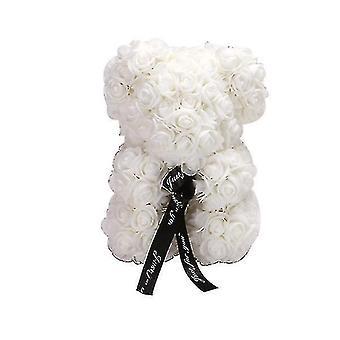 Подарок на день святого Валентина 25 см роза медведь день рождения подарок £? день памяти подарок плюшевый мишка (Белый)