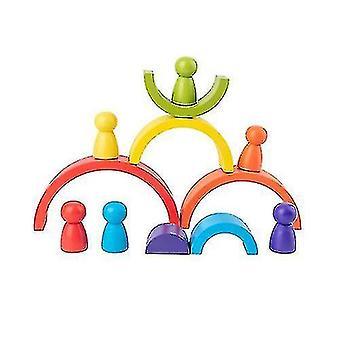 Drevené deti's Dúhové klenuté stavebné bloky Hračky