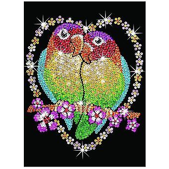 Sequin Art Sequin Love Birds Senior