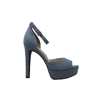 Jessica Simpson Womens Beeya Stoff Peep Toe lässige Ankle Sandalen