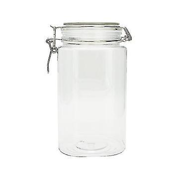 1550ml New Square Airtight Plastic Jar Pet Transparent Nut Jar Dried Fruit
