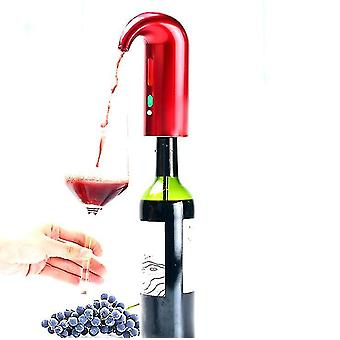 Electric Wine automatic decanter,Rechargeable Portable Wine Decanter Pump And Dispenser(Red)