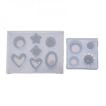 2 Styles 3d Mini Cake Keychain Resin Molds Kit Cup Cake Food Play Cake Pendant Epoxy Resin Molds Kit  Resin Craft Tools