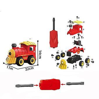 Children's afneembare DIY trein speelgoed