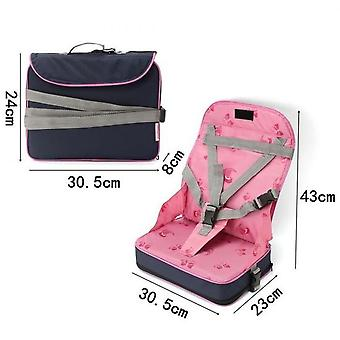 Baby Child Booster Seat Foldable Portable Table Seat 5 Point Harness Safety Chair Meal Travel