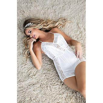 Unlined Silk Romper With Lace Detailing
