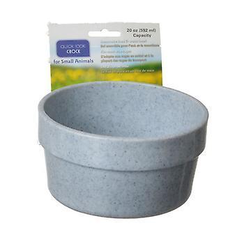 Lixit Quick Lock Crock Granite Color Hanging Feeder - 20 oz