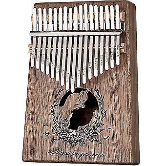 17 Keys kalimba thumb piano cats waiting you print musical instrument for beginners