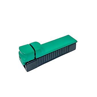 H-perusteet savukkeiden peukalointikone 1 savukkeelle, joka on valmistettu vihreästä muovista - savuketuppa