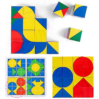 Diikamiiok Cube Space Thinking Building Blocks Wooden Intelligence Development Early Education Game