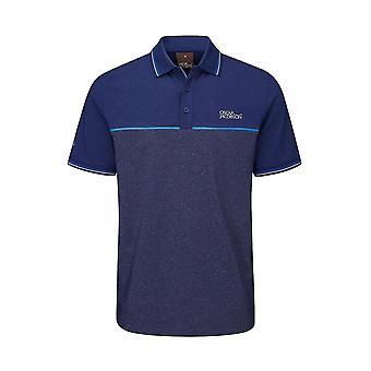 Oscar Jacobson Mens Polo Shirt Performance Short Sleeve 3 Button Placket Top