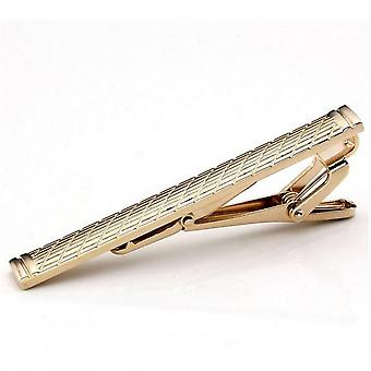 Mens Classical Plain Golden Stainless Steel Standard Tie Clip Clasp Bars Pins