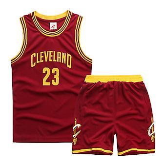 Cleveland Cavaliers Lebron James No.23 Basketball Jersey #23/barnas Basketball Uniform Set Barn/rød