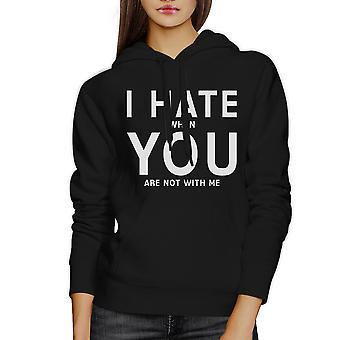 Ik haat u Unisex Hoodie grappig grafisch leuk cadeau voor Valentijnsdag