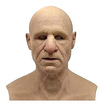Fuld Latex Mask Til Halloween med hals Fuld Hoved Creepy Wrinkle Ansigtsmaske Latex Mask Cosplay Party Rekvisitter Mask For Face Kvinder