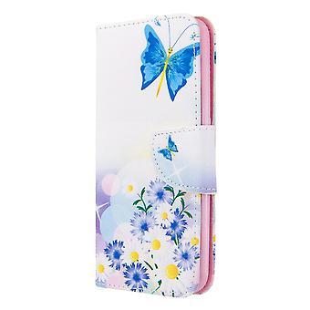 Cas pour Samsung Galaxy A01 Pattern Butterfly Flower