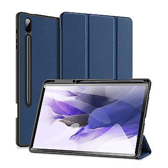 Etui pour Samsung Galaxy Tab S7 Fe Ultra mince Smart Étui en cuir avec porte-crayon &Auto Wake Up /sleep - Bleu