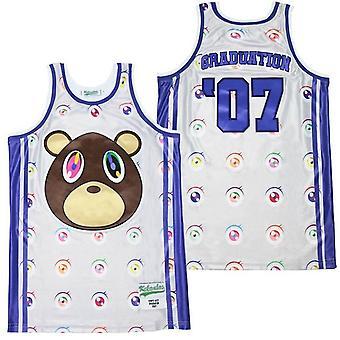 पुरुषों की स्नातक आंखें बास्केटबॉल जर्सी स्पोर्ट्स टी शर्ट एस-xxl, फैशन 90 के दशक हिप हॉप पार्टी के लिए कपड़े, सिले पत्र और संख्या #07