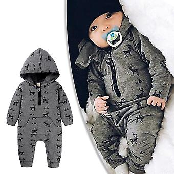 Baby Boy Long Sleeve Jumpsuit Romper Playsuits Clothes