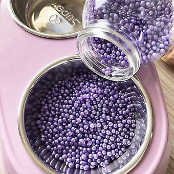 100g kissanhiekka Deodoranttia beads käytetään puhdistamaan kissan wc-tarvikkeita imemään lemmikkieläinten ulosteiden hajua ja säteilemään sitruunamintun aromia