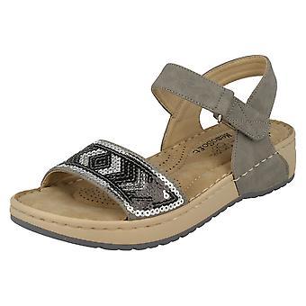 Senhoras Rieker Memosoft sandálias V5778