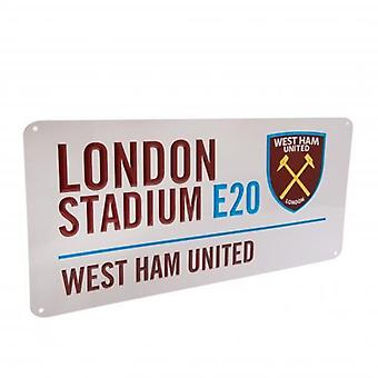 West Ham United Street Sign