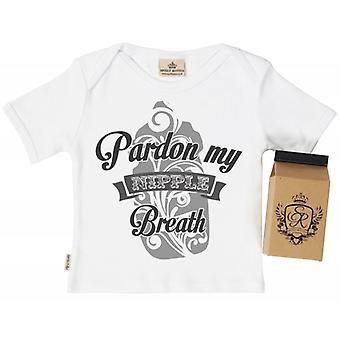Spoilt Rotten Pardon Milk Breathe Babys T-Shirt 100% Organic In Milk Carton